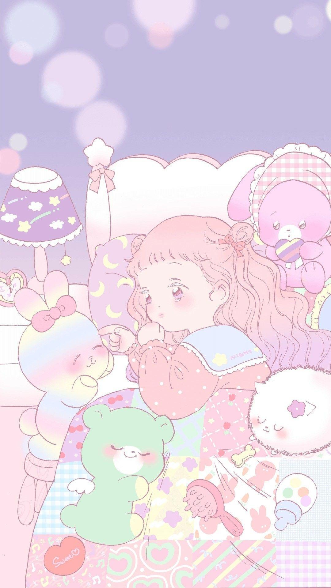 Kawaii Wallpaper Anime : kawaii, wallpaper, anime, Kawaii, Pastel, Anime, Wallpapers, Backgrounds, WallpaperAccess