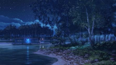 Anime Night Scenery Wallpapers Top Free Anime Night Scenery Backgrounds WallpaperAccess