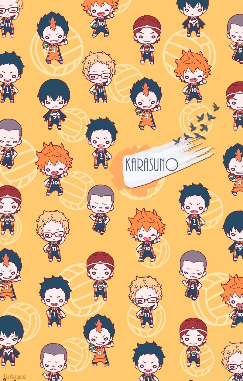 Karasuno Wallpaper Iphone : karasuno, wallpaper, iphone, Haikyuu, Chibi, Wallpapers, Backgrounds, WallpaperAccess