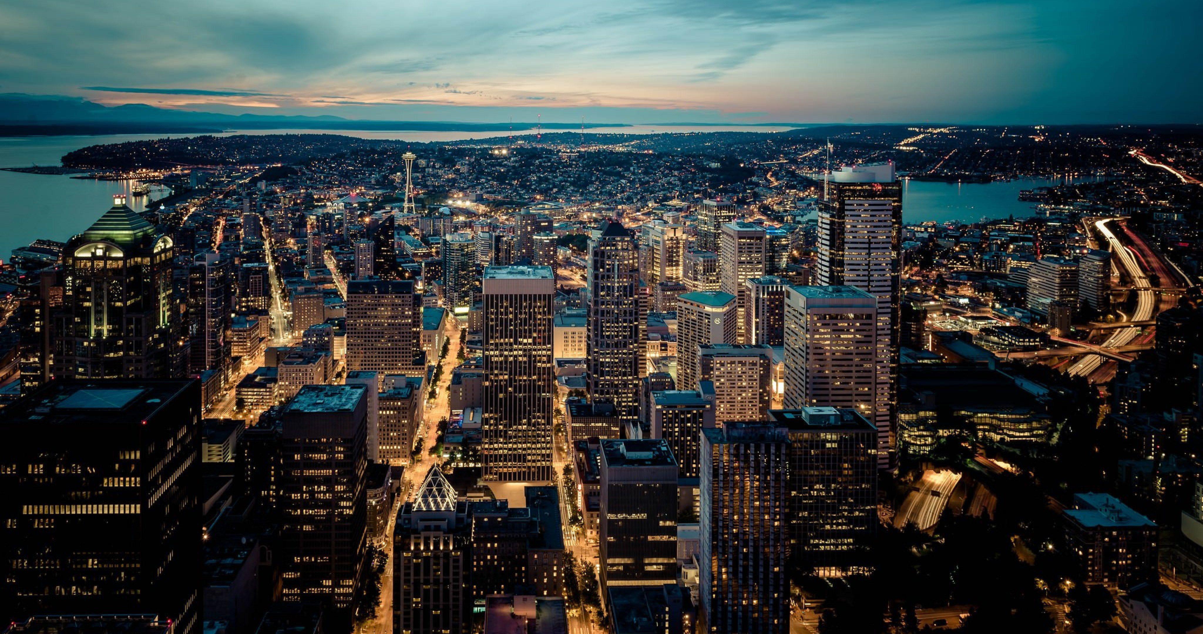 Seattle Washington In Fall City Night Wallpaper 4k Urban Wallpapers Top Free 4k Urban Backgrounds