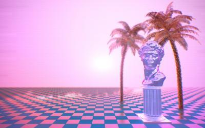 vaporwave aesthetic jongh rafael retro wallpapers depression backgrounds synthwave deviantart scene