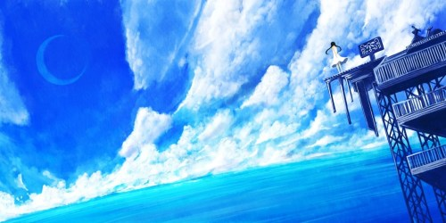 Blue Anime Scenery Wallpapers Top Free Blue Anime Scenery Backgrounds WallpaperAccess