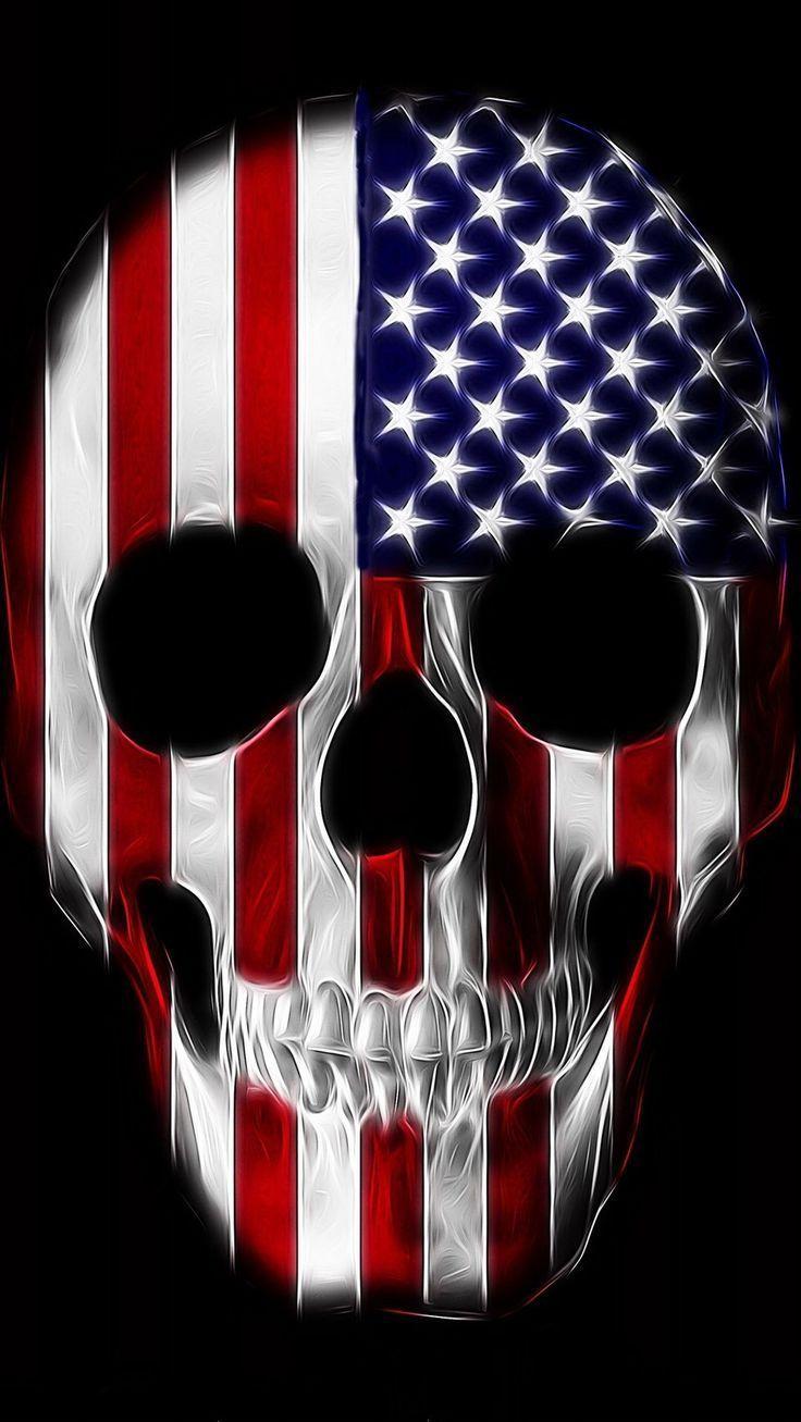 American Flag Skull Wallpaper : american, skull, wallpaper, American, Skull, Wallpapers, Backgrounds, WallpaperAccess