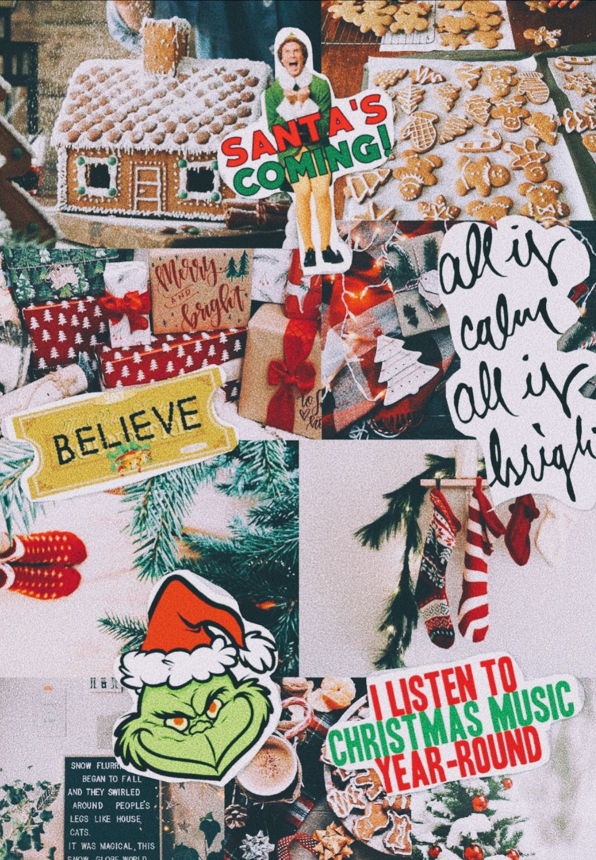 Aesthetic Christmas Wallpapers Computer : aesthetic, christmas, wallpapers, computer, Christmas, Collage, Wallpapers, Backgrounds, WallpaperAccess