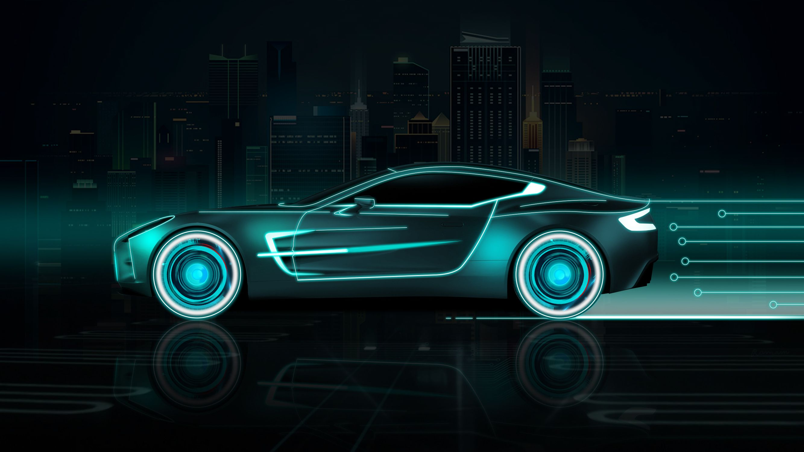 neon sports cars wallpapers