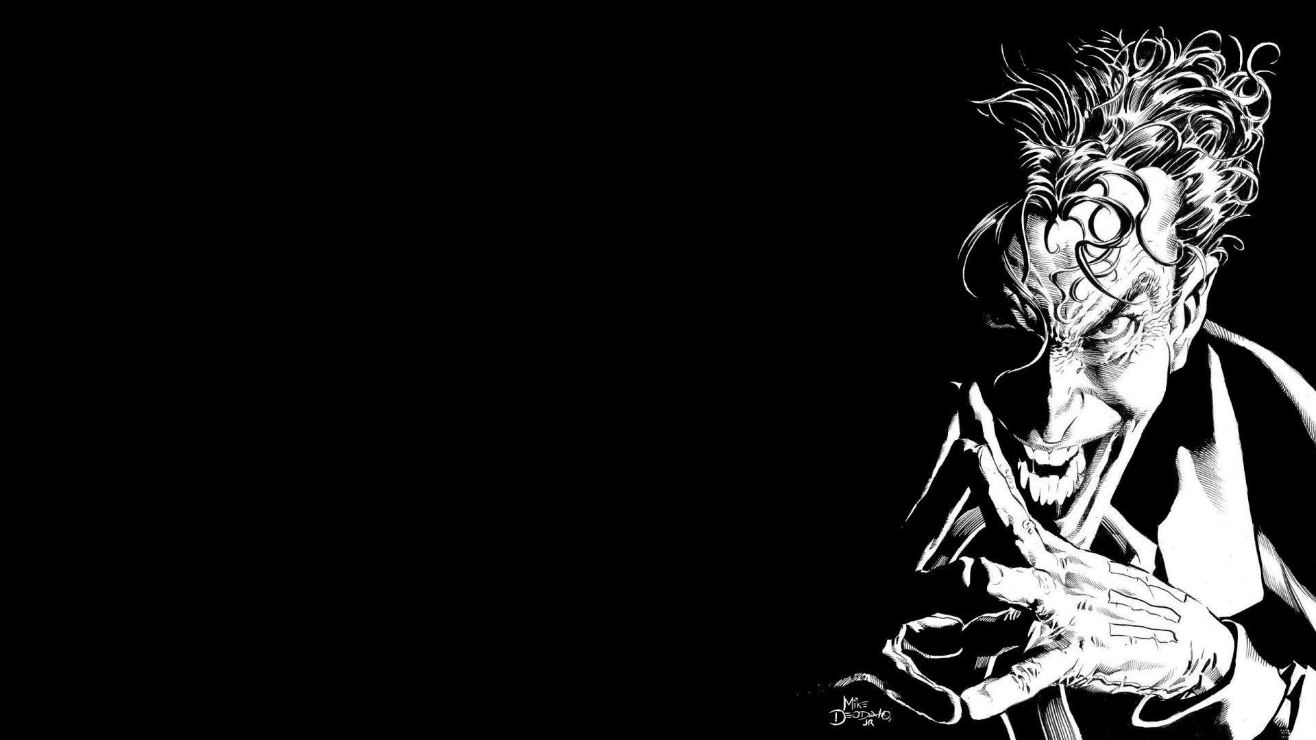 Zendha Black And White Wallpaper Joker