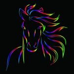 Neon Horses Wallpapers Top Free Neon Horses Backgrounds Wallpaperaccess