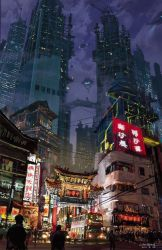 anime japanese background wallpapers animation cyberpunk sci backgrounds wallpaperaccess
