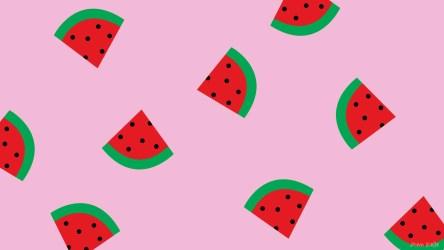 desktop watermelon pink summer aesthetic backgrounds background wallpapers computer hd july light yellow watermelons kelle ann wallpaperaccess abyss