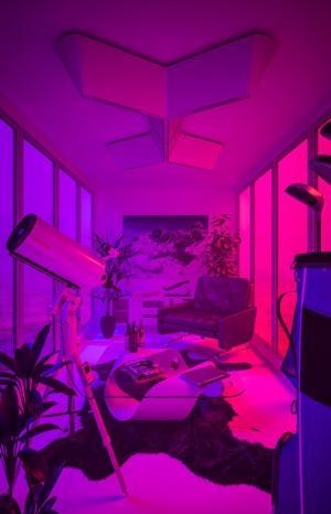 neon aesthetic purple wallpapers theme pink laughton kim bedroom background backgrounds vaporwave night artist themes wallpaperaccess dark rooms desktop evanescence