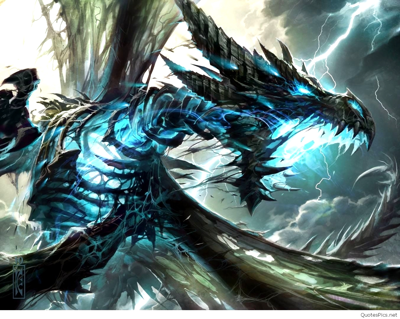 Thunder Dragon Wallpaper