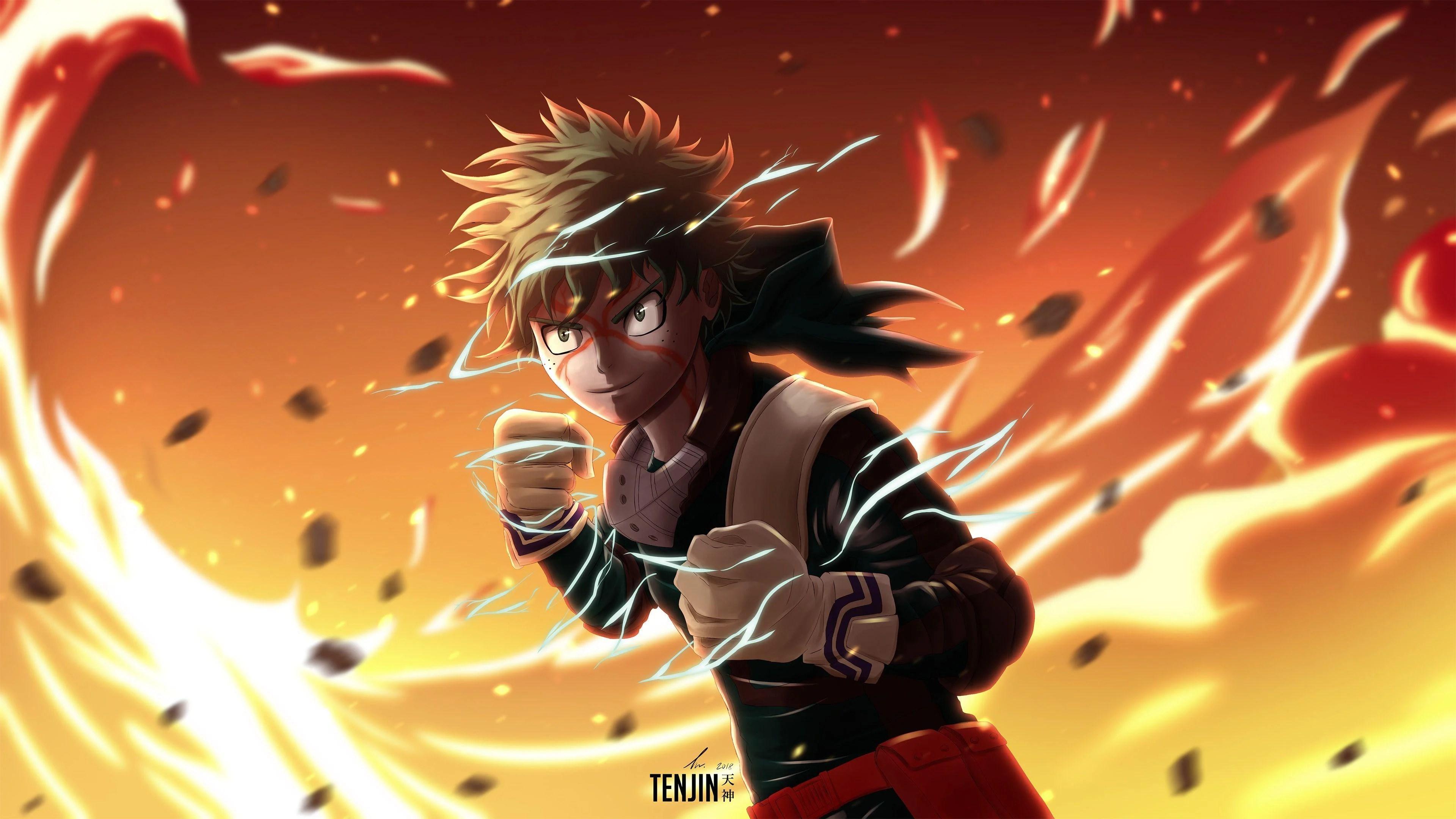Wallpaper of anime, izuku midoriya, ochaco uraraka, mha; Deku My Hero Academia 4K Wallpapers - Top Free Deku My ...