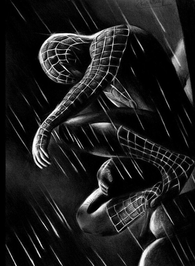 black spider man iphone
