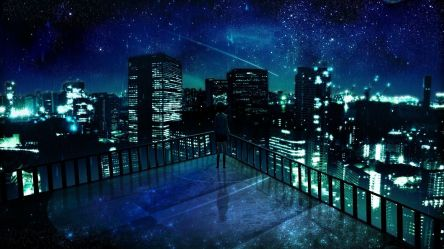 Anime Night City Wallpapers Top Free Anime Night City Backgrounds WallpaperAccess