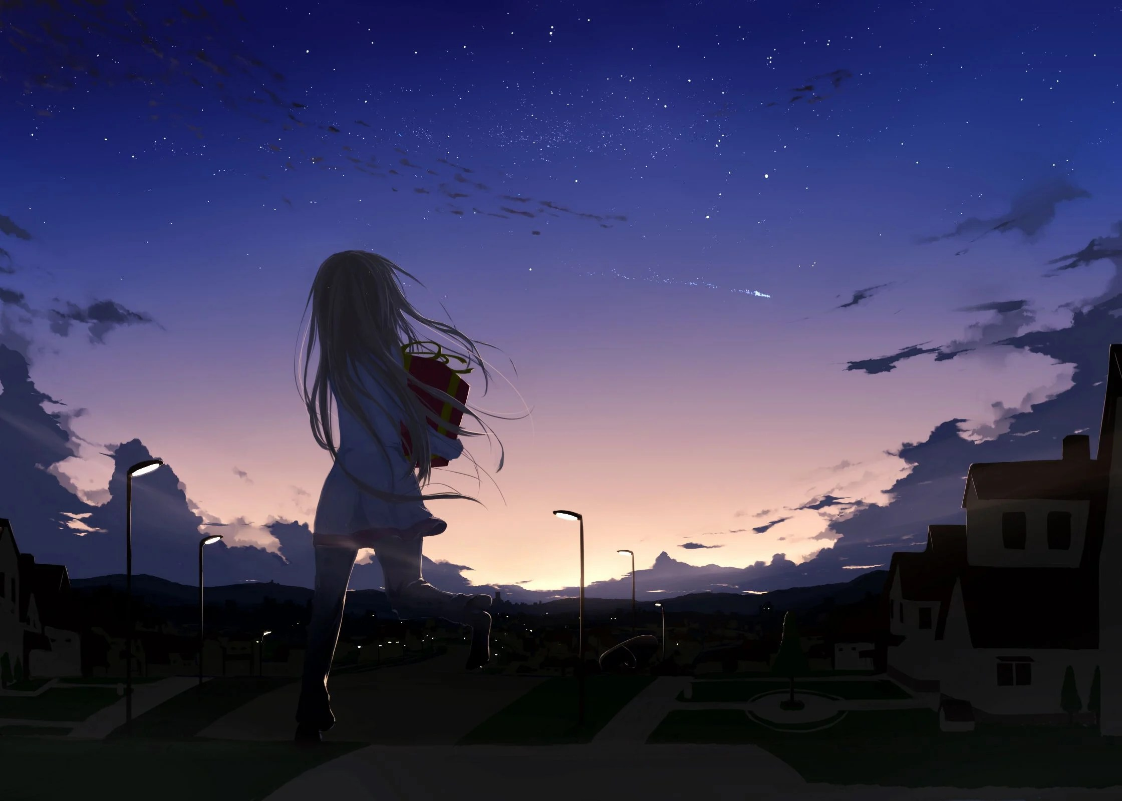 Wallpaper Engine Girl Falling Music Anime Night Wallpapers Top Free Anime Night Backgrounds