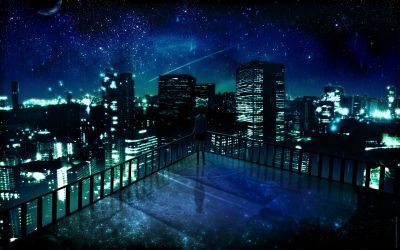 Anime City Night Scenery Wallpapers Top Free Anime City Night Scenery Backgrounds WallpaperAccess