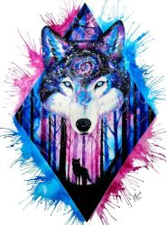 galaxy wolf cute wallpapers animals backgrounds wallpaperaccess preserve remind nature paint beauty