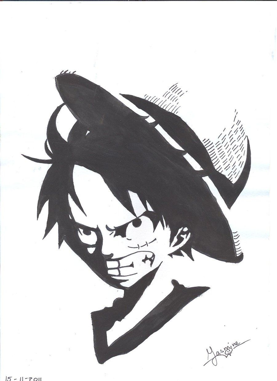 Monochromes are trending but this is not the first time. Luffy Black and White Wallpapers - Top Free Luffy Black ...
