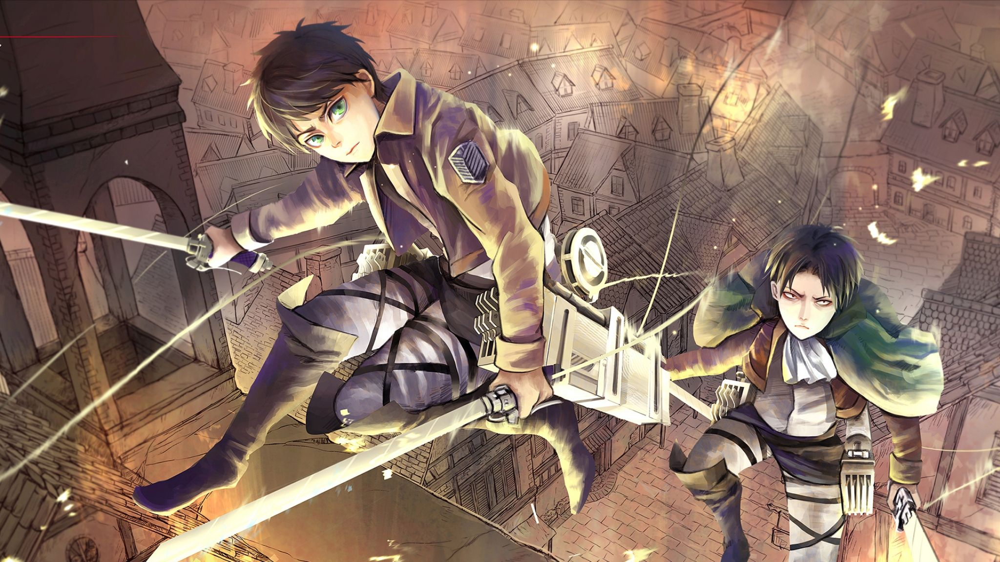 The ship sank just four days into its maiden voyage, but it made an indelible impression on the minds o. Eren and Levi Attack On Titan Wallpapers - Top Free Eren ...