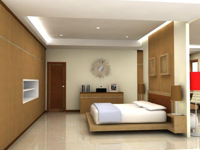 Renovasi render interior rumah tinggal  Wallpaper
