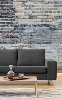 Living Room Wallpaper Inspiration : Industrial luxe is the ...