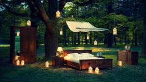 bed desktop nature widescreen definition table woods chandeliers lamps closet moving landscape pc
