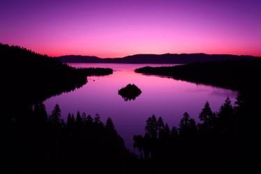 purple sky pink landscape forest dark lake mountains nature sunset island sunrise hills desktop calm horizon background spruce hd backgrounds