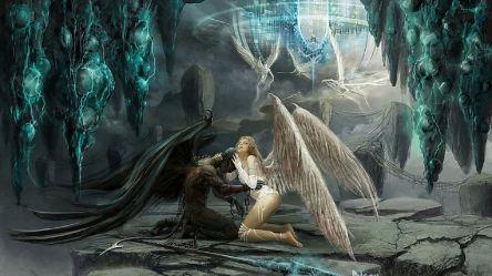 demon angel angels demons vs fantasy wallpapers wallpaperboat