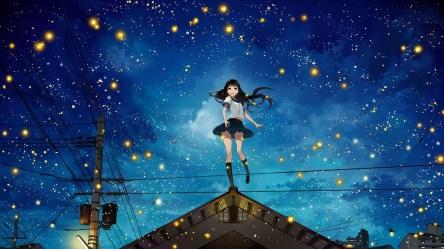 Night Anime Girl Wallpapers WallpaperBoat