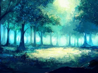 anime forest fantasy tree artwork wallpapers hd landscape pv rouquin voleuse fb backgrounds widescreen pause axle author 720p wallpapercan wallpaperaccess