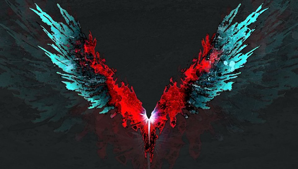 Hd Superhero Wallpapers For Pc Devil May Cry 5 Video Game Wings Logo Wallpaper