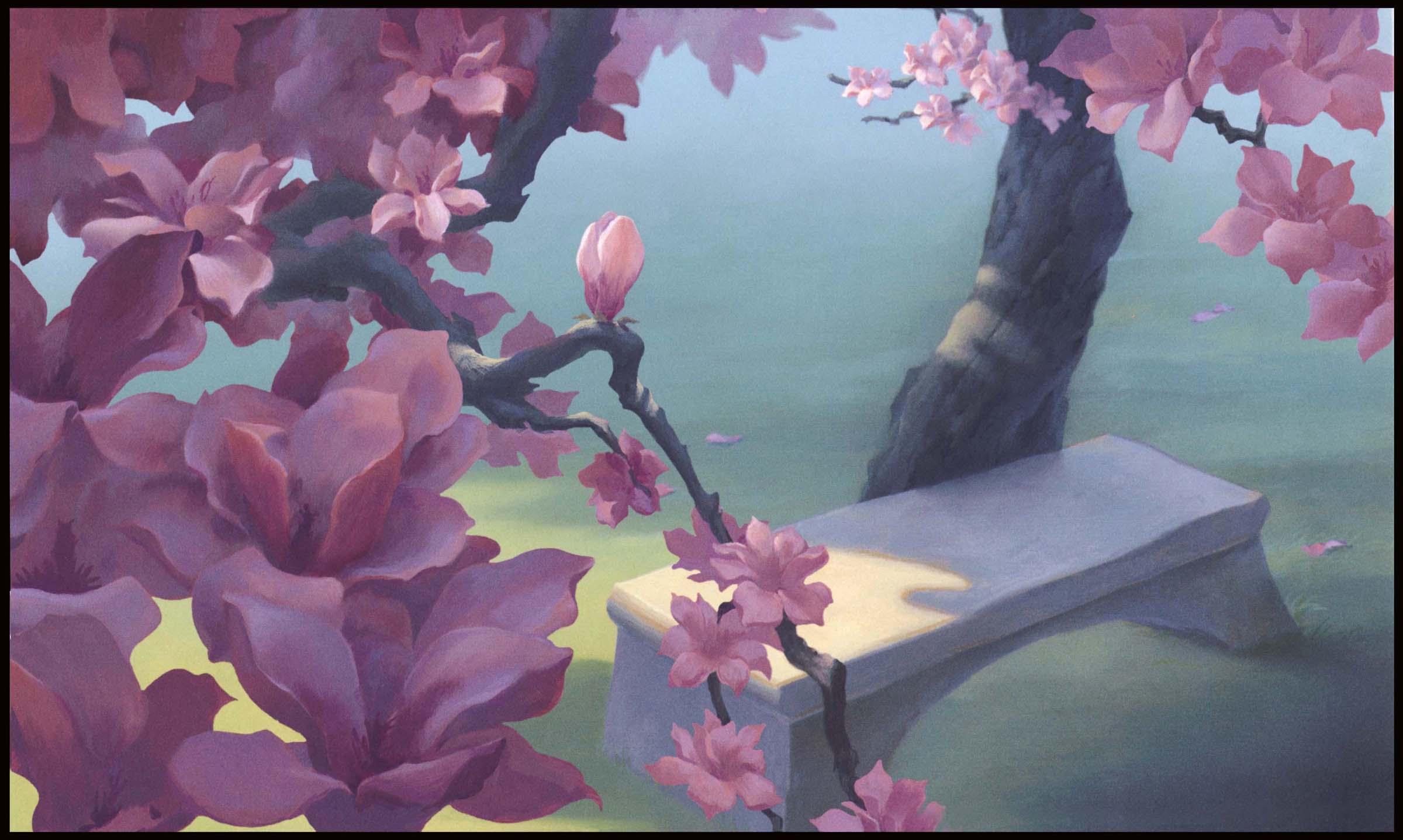 Falling Cherry Blossom Wallpaper Hd Mulan Backgrounds Wallpaper Cave