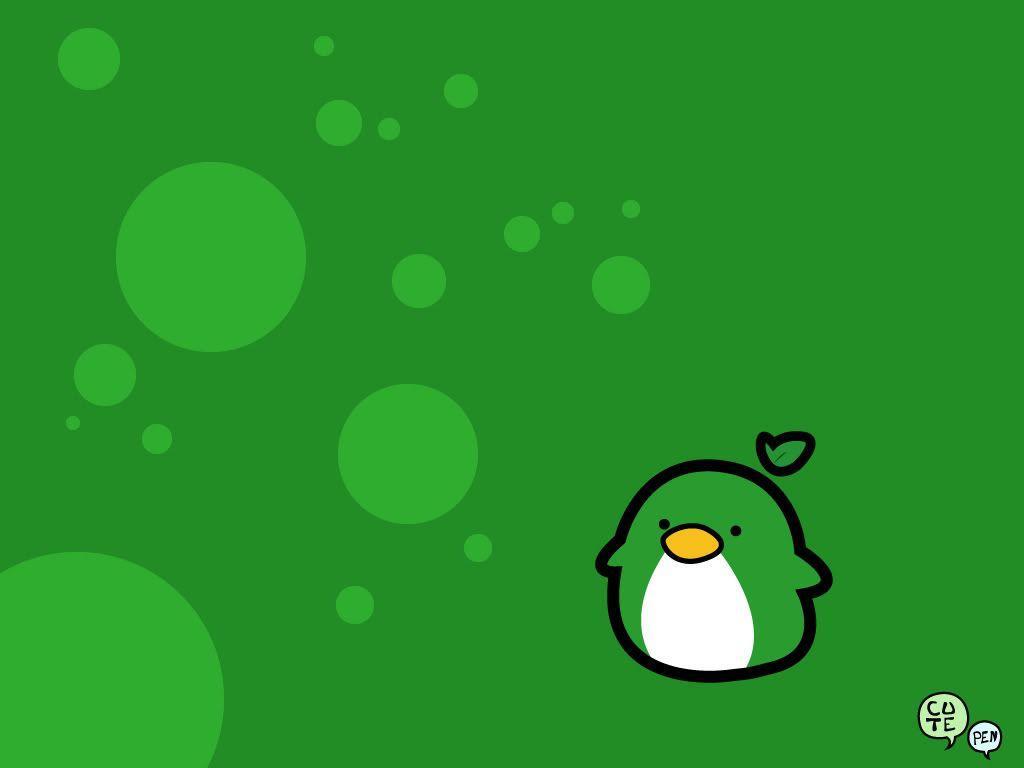 Cute Penguin Desktop Wallpaper