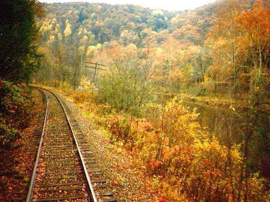 Fall Scenery Desktop Wallpapers Train Backgrounds Wallpaper Cave
