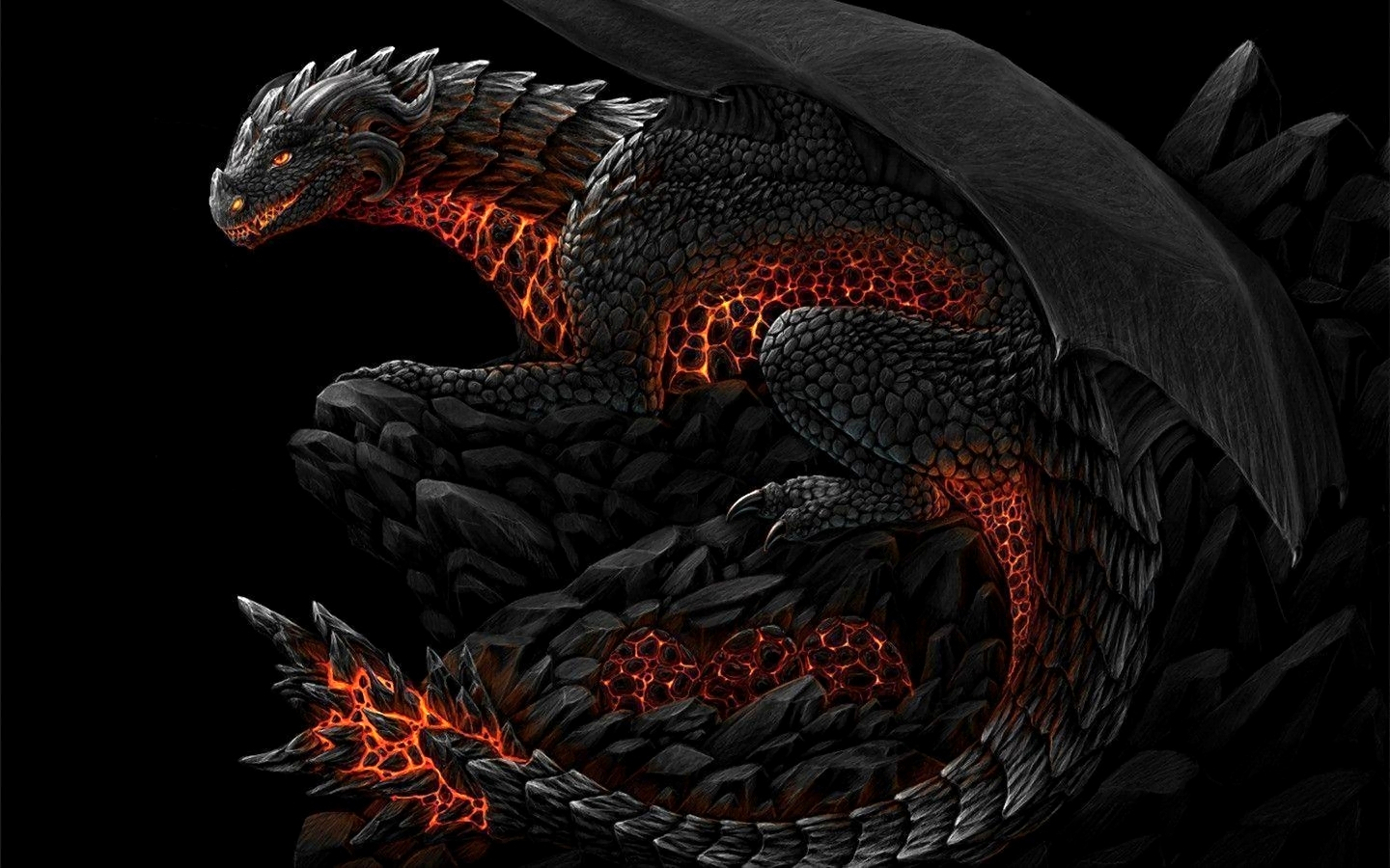 Fire Dragon Wallpaper Cave