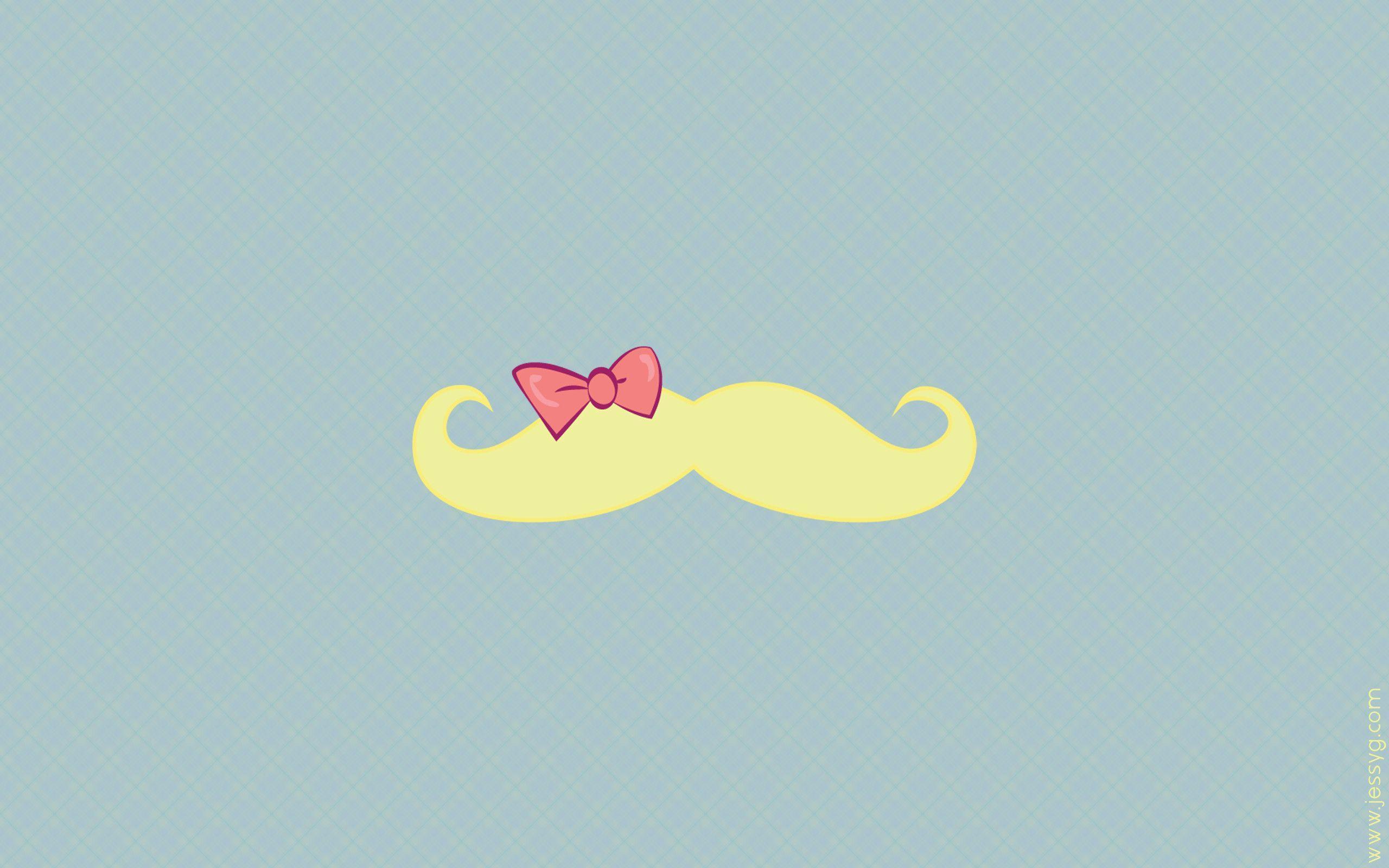 Girly Mustache Backgrounds