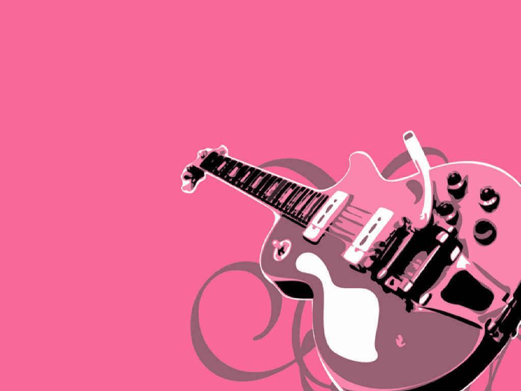 Guitar Girl Wallpaper Iphone Pink Music Wallpapers Wallpaper Cave