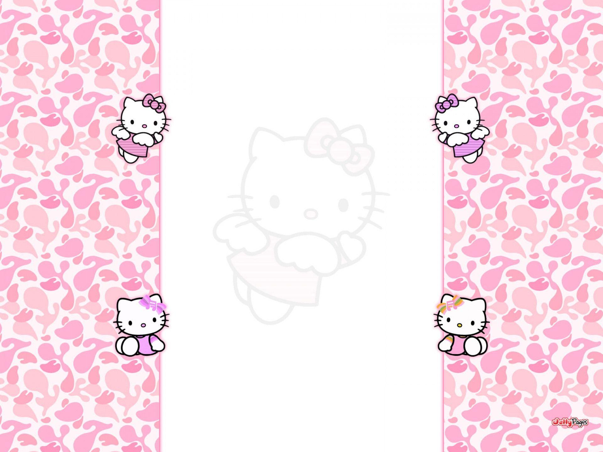 Hello Kitty Pink Cute Wallpaper Bergerak Hello Kitty Picture Backgrounds Wallpaper Cave
