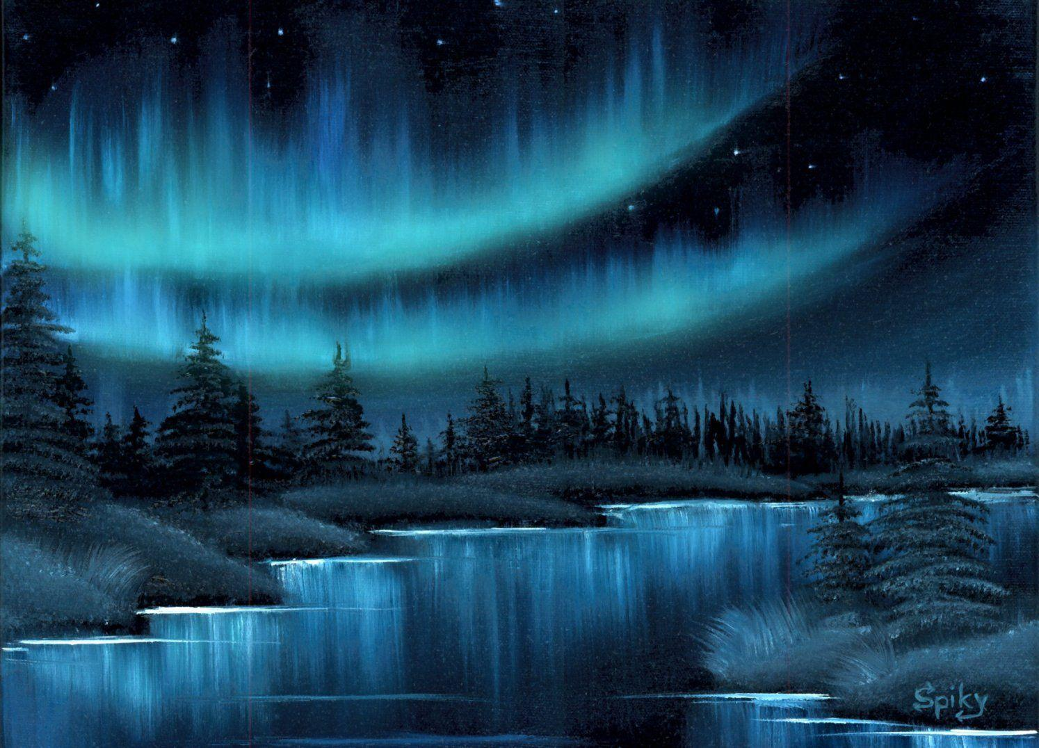 Northern Lights Oil Painting