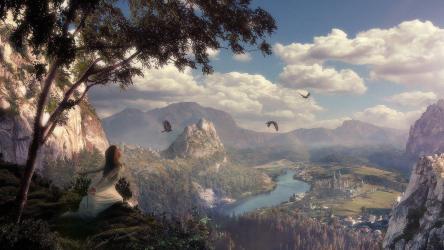 fantasy landscape wallpapers hd widescreen cave
