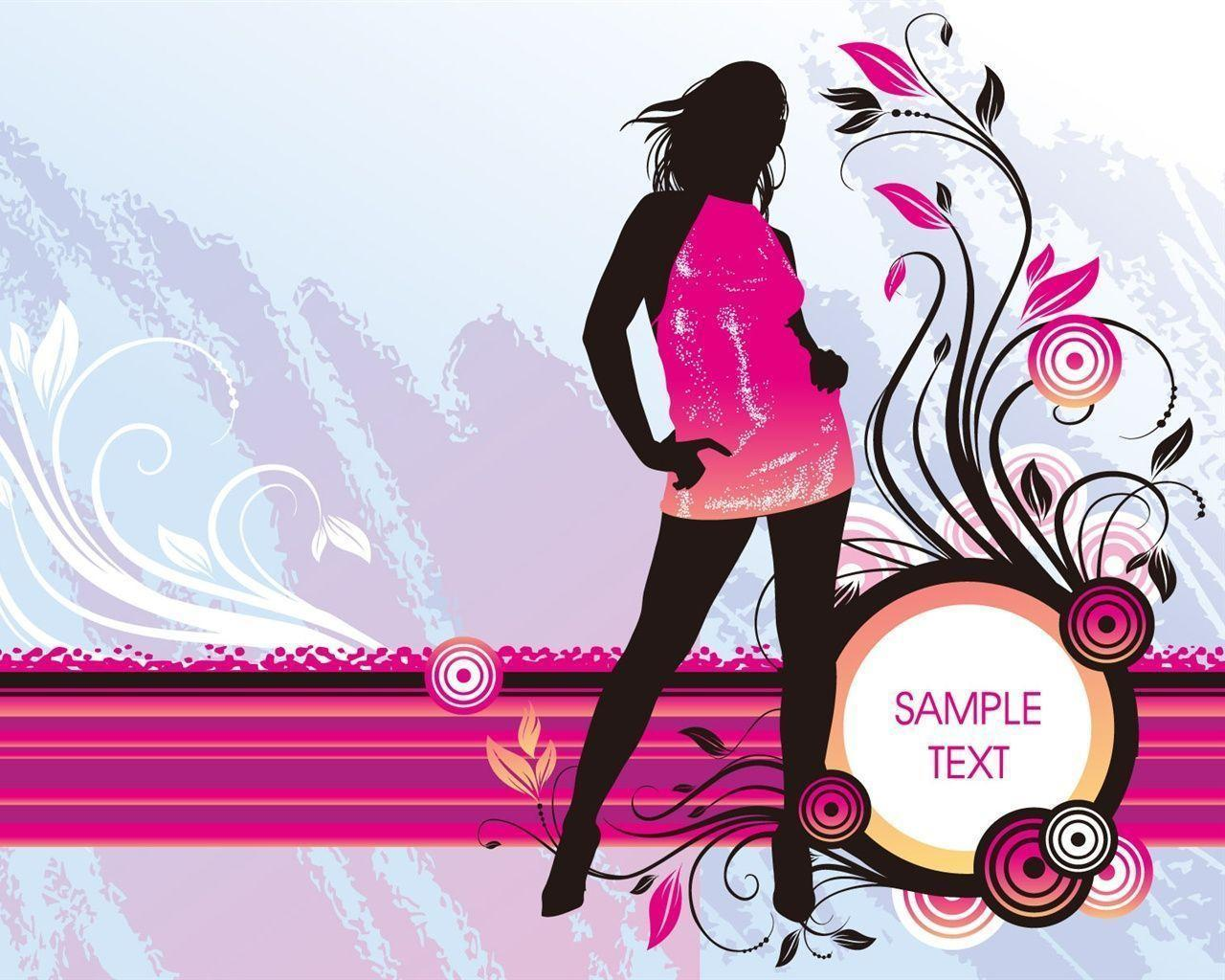 Fashion Cartoon Girl Desktop Wallpapers Fashion Wallpapers Wallpaper Cave