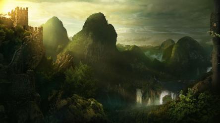 landscape fantasy wallpapers desktop backgrounds computer cave