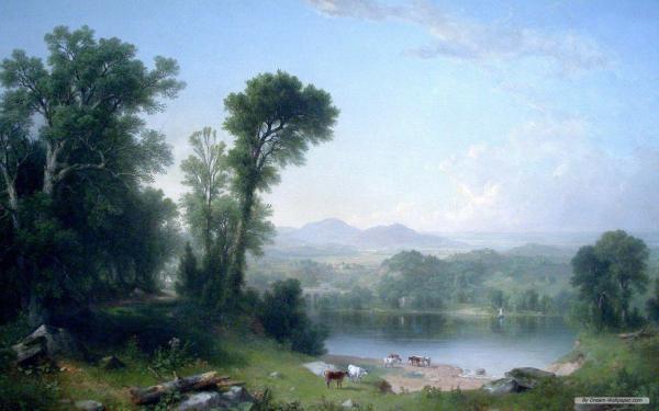 Asher Brown Durand Pastoral Landscape