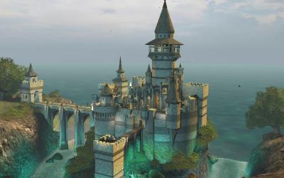 castle desktop backgrounds fantasy wallpapers