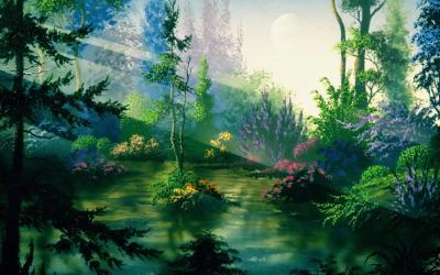 fantasy nature wallpapers cave
