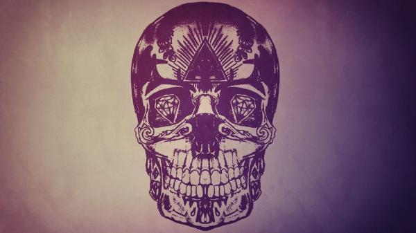 Abstract Skull Drawings