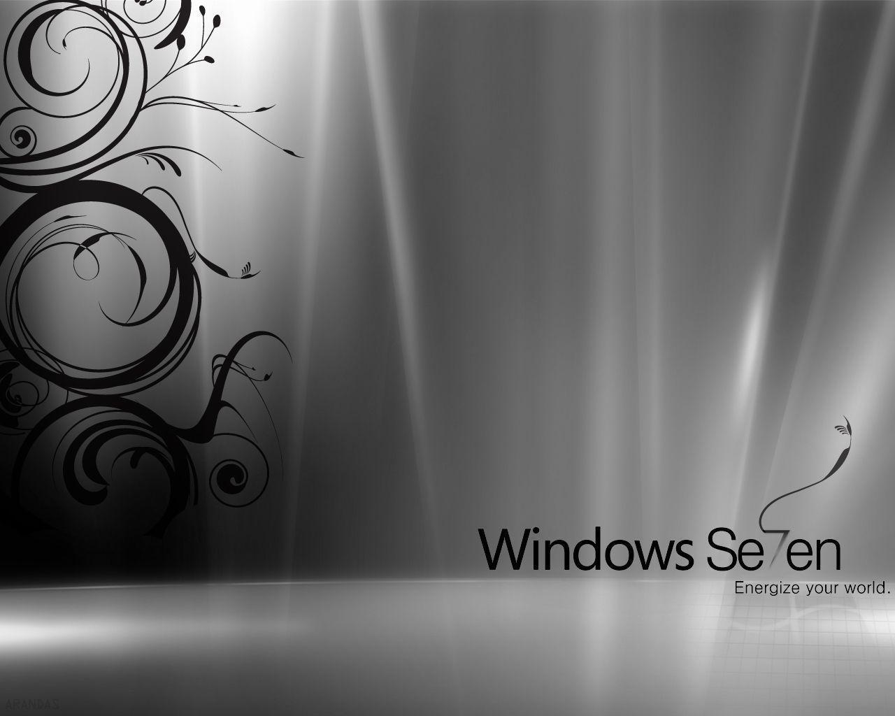 And Black Windows Background White