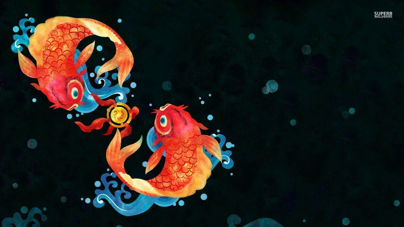 Anime Koi Fish Girl Wallpaper Koi Fish Wallpapers Wallpaper Cave