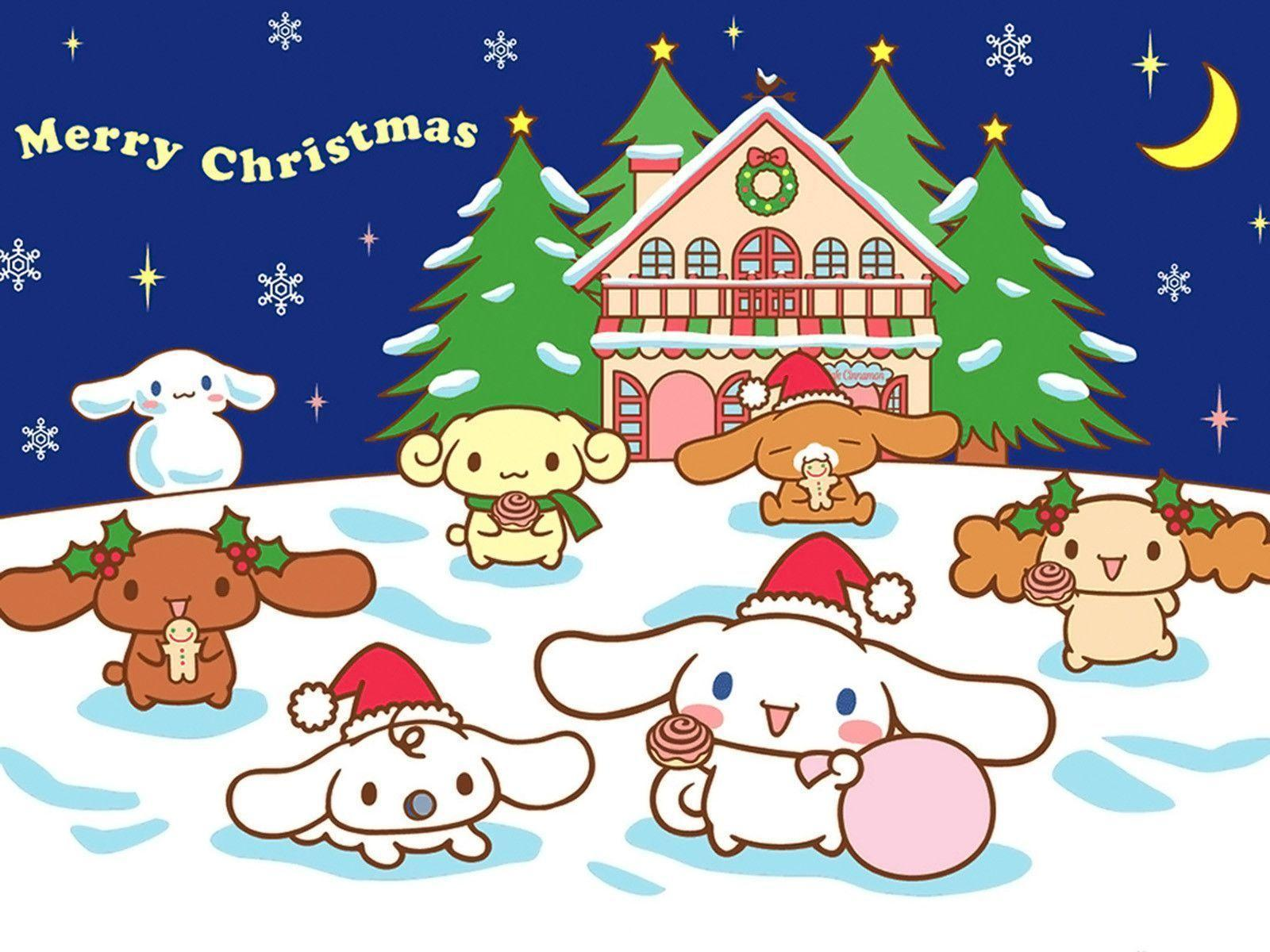 Hello Kitty Christmas Backgrounds - Wallpaper Cave