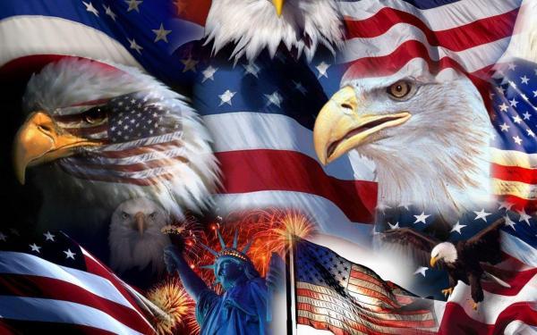 Eagle American Flag Desktop